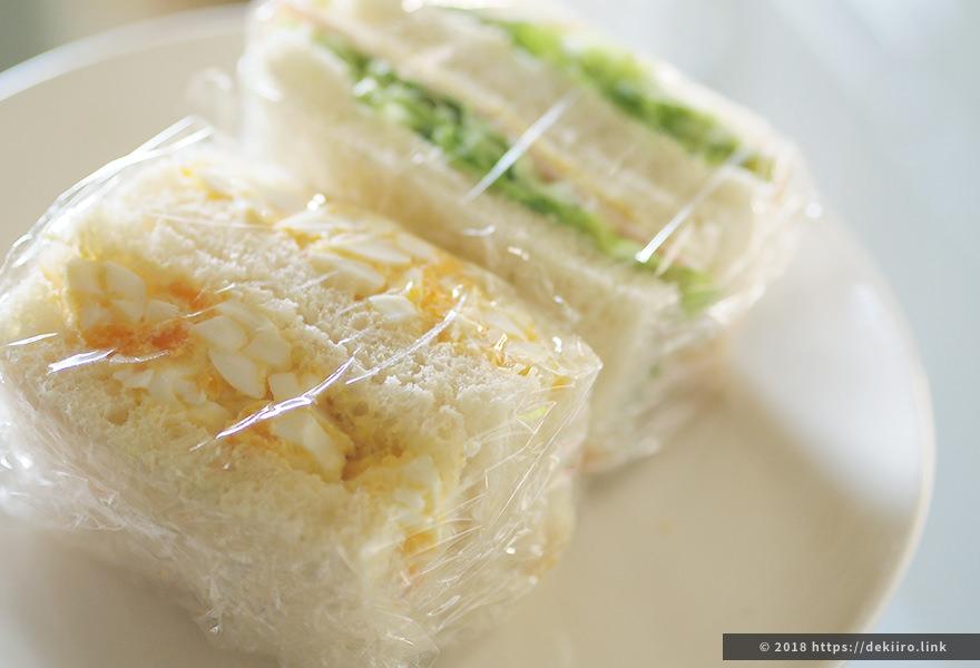 出来上がったサンドイッチ(SD-BH1001)