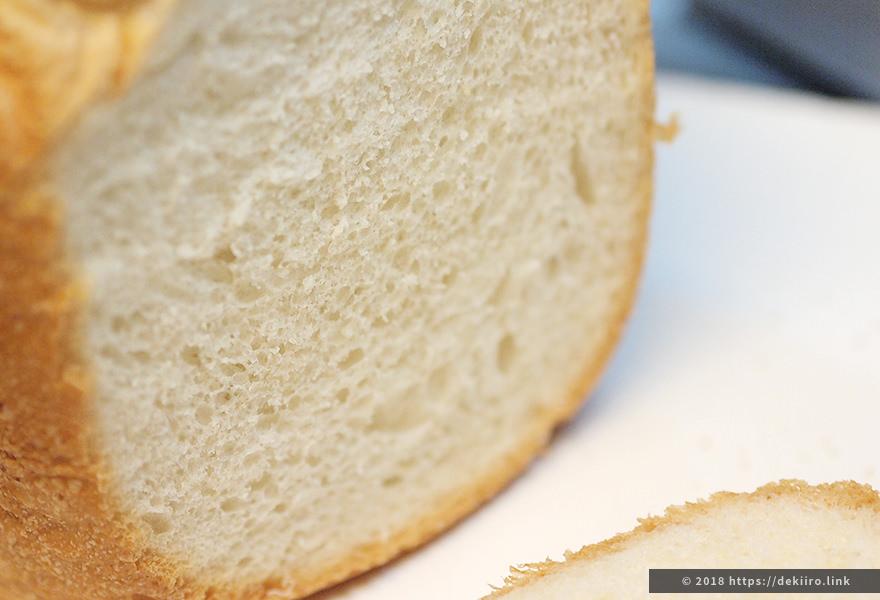 SD-BH1001で作ったサンドイッチ用食パンの断面