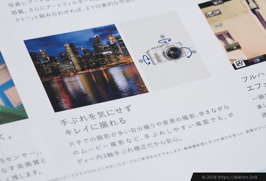 オリンパスのカメラ内3軸手ぶれ補正技術