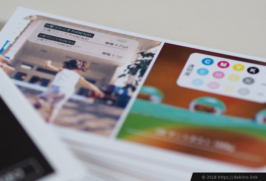 プリスタのマットポスト 名刺サイズのサンプルイメージ