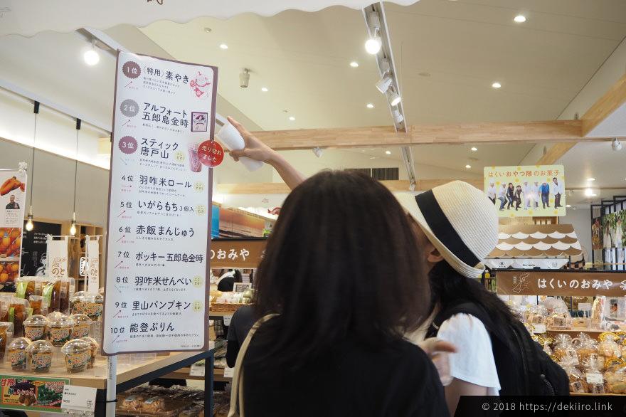 道の駅のと千里浜の売れ筋人気ランキングTOP10