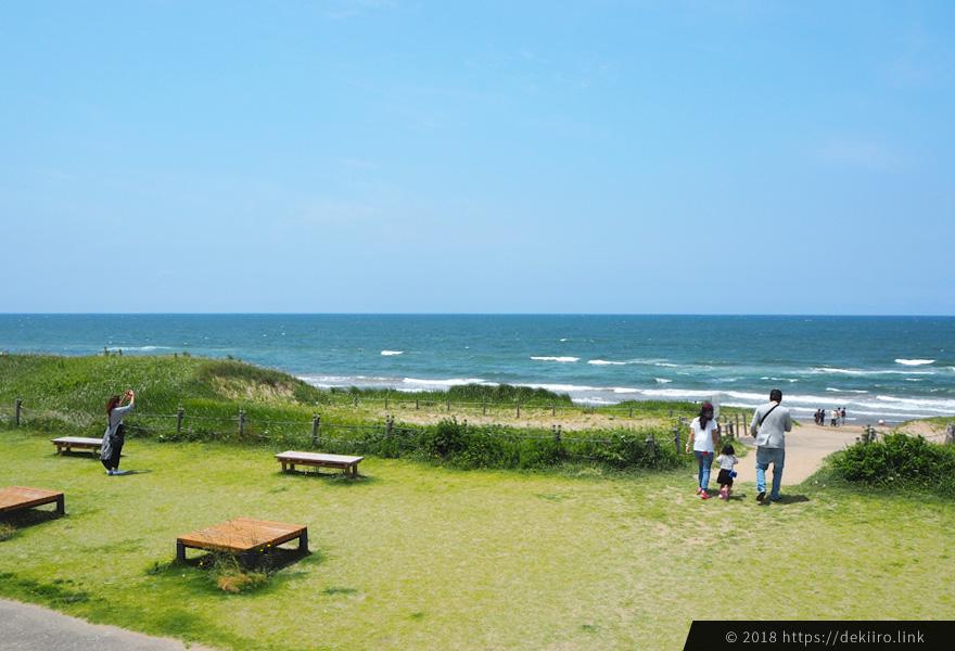 道の駅高松 里海館からの日本海の眺め