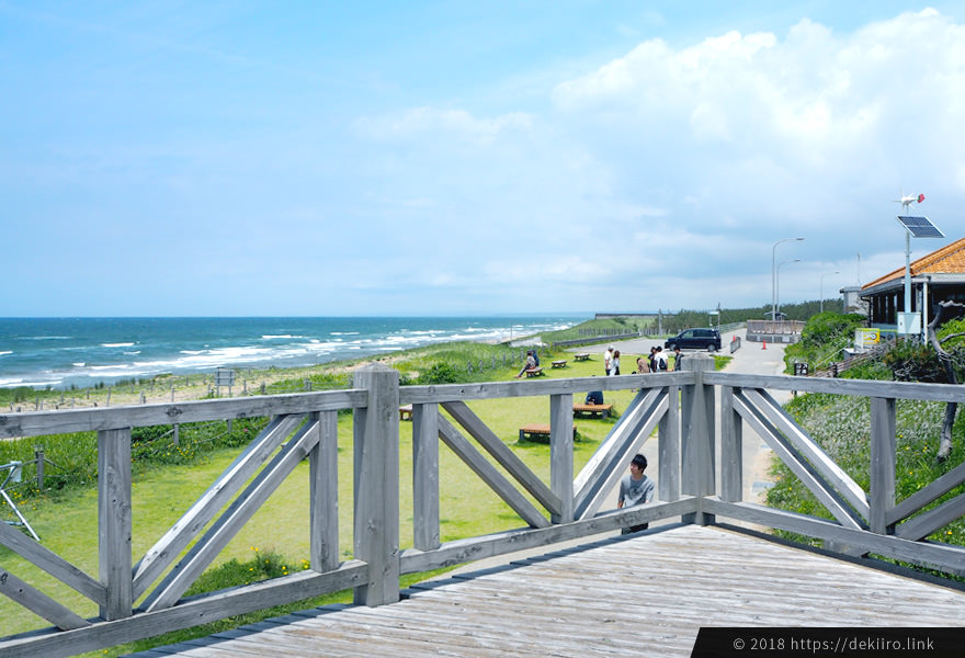 道の駅高松パーキングから眺める日本海