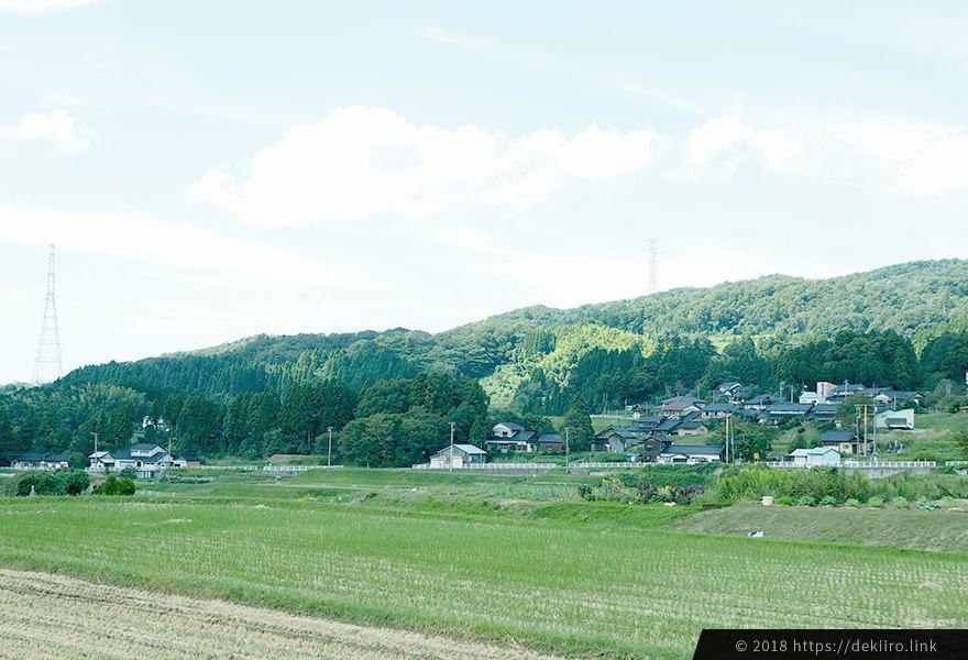 石川県羽咋市神子原(みこはら)地区の自然あふれる風景