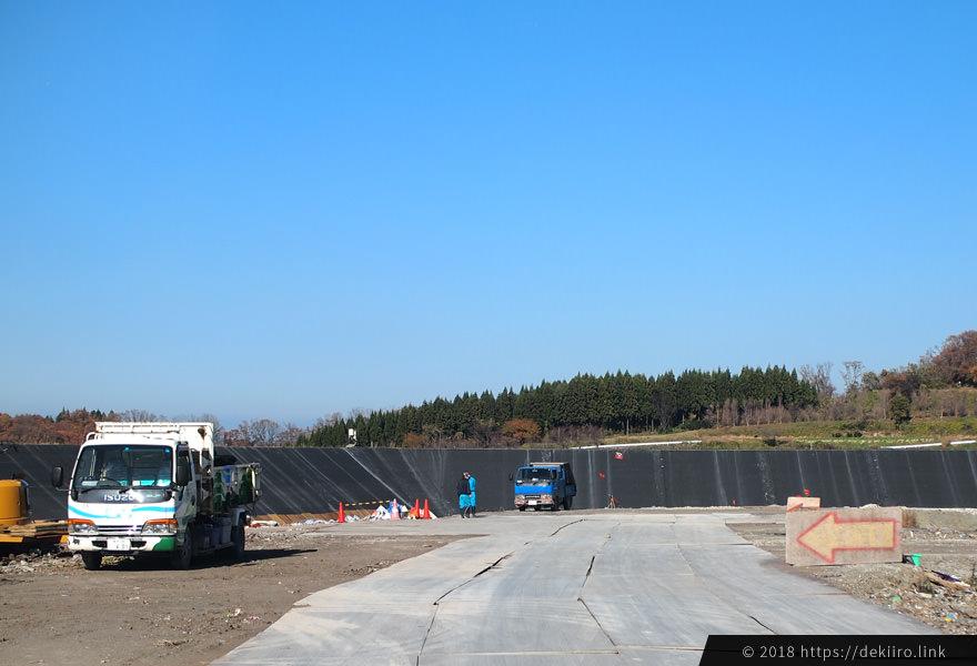 戸室新保埋立場の風景(金沢市)