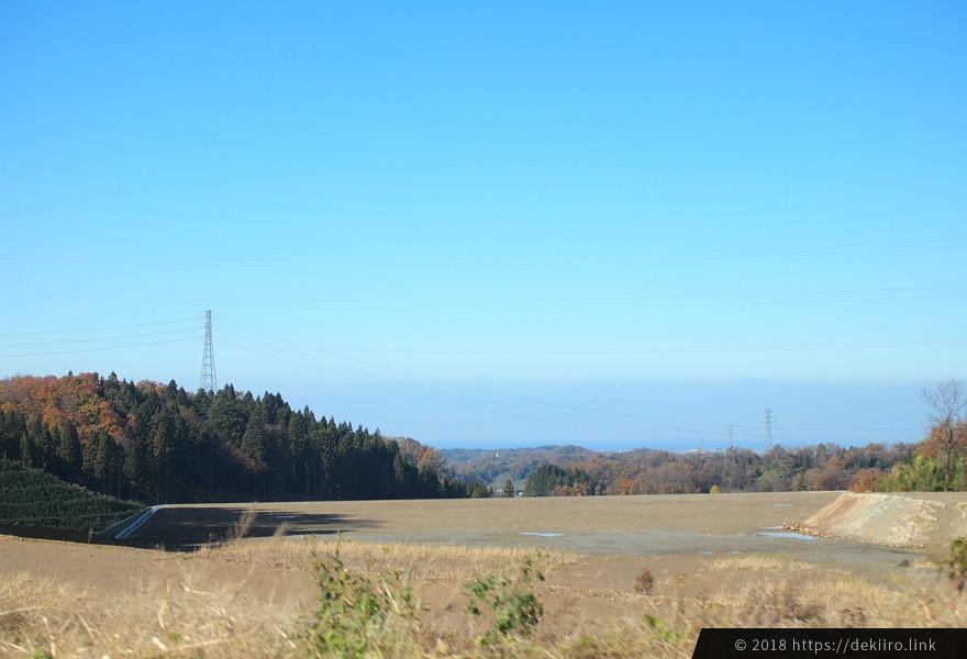 金沢戸室新保埋立場付近の風景