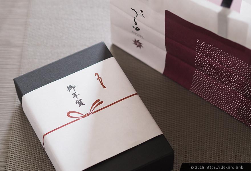 """御年賀にうら田の和菓子""""華の宴""""を購入"""
