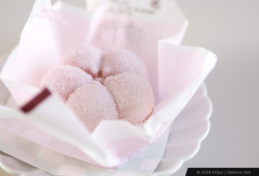 ピンク色が可愛い越山甘清堂の正月菓子「ふくうめ」