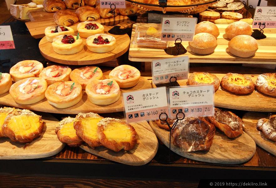 VIVIR金沢店 (高柳町) のパンの品揃え
