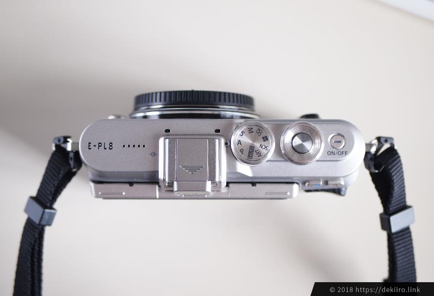 カメラ本体(E-PL8)を上から撮ってみた