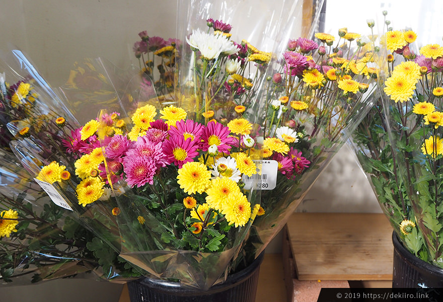 直売所のお花
