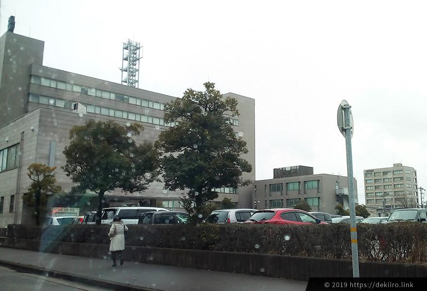 確定申告時の金沢税務署の駐車場