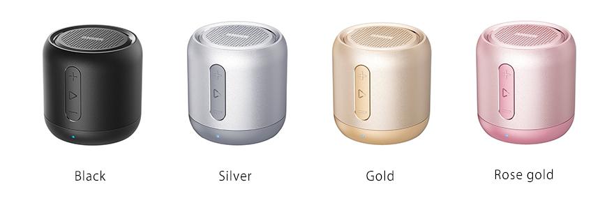 ANKER SoundCore mini のカラーバリエーションは4色展開
