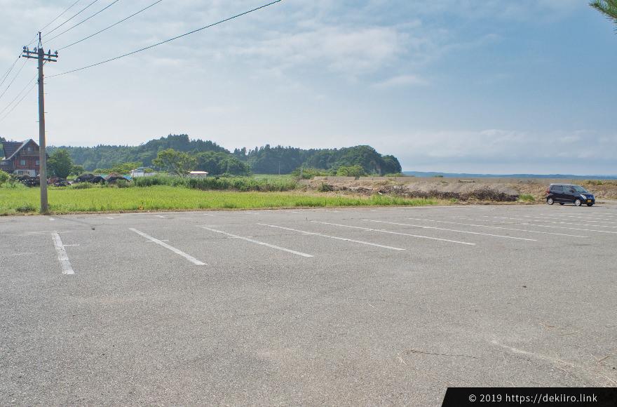 八ヶ崎海水浴場の駐車場