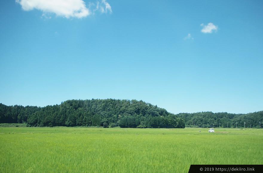 奥能登の自然豊かな田園風景