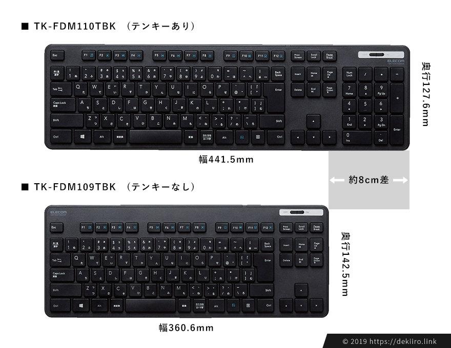 TK-FDM110TBKとTK-FDM109TBKのサイズを比較