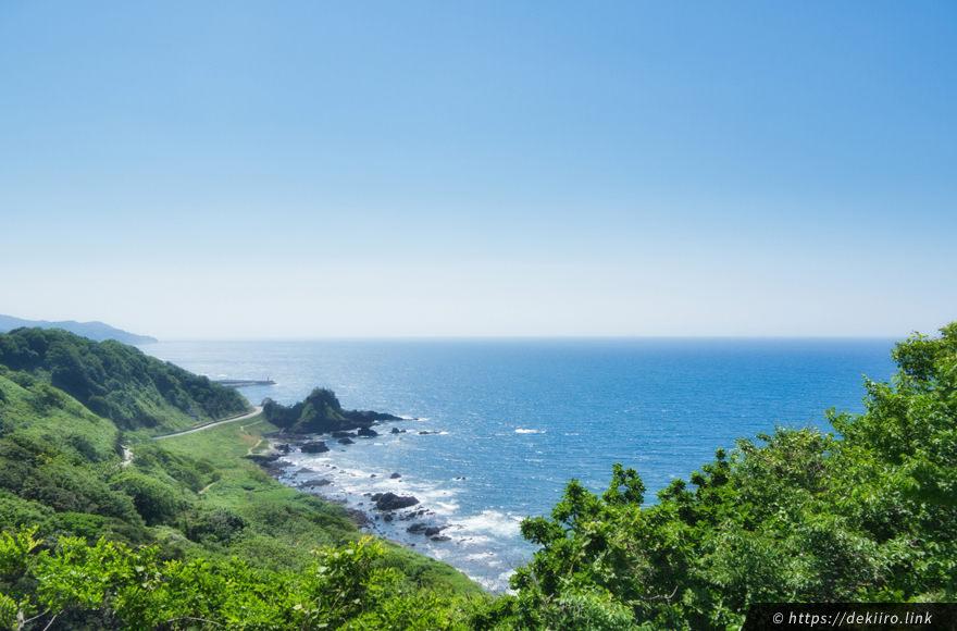 椿展望台から見る日本海の景色
