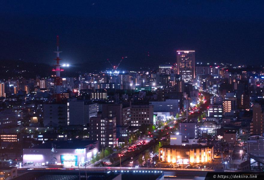 金沢駅方面の夜景