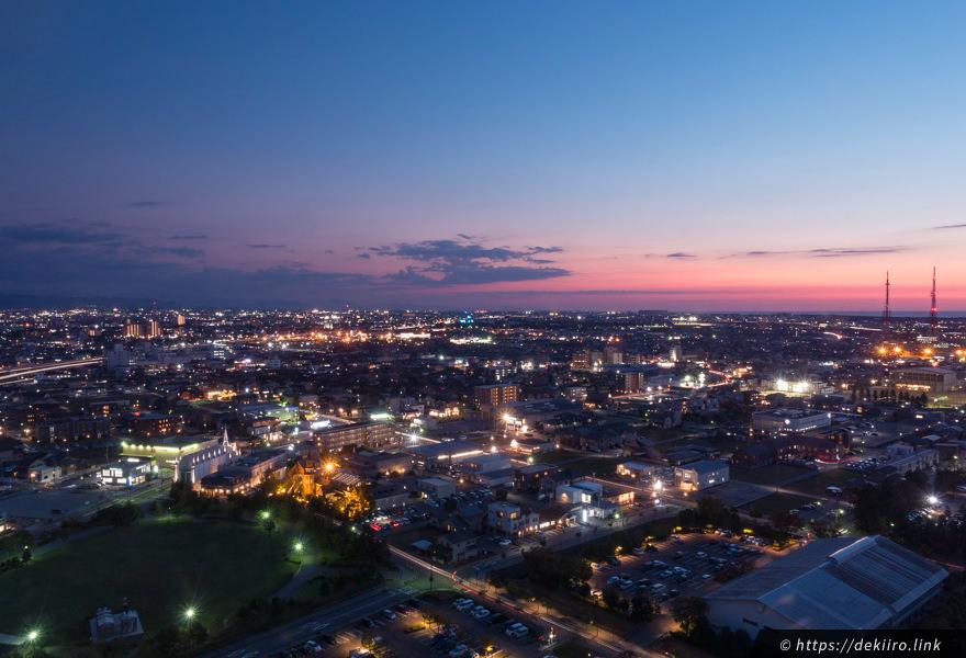 金沢市の夜景・トワイライト