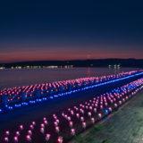 【能登】富来・増穂浦のイルミネーション「ときめき桜貝廊」がキレイ!2019.09.09撮影