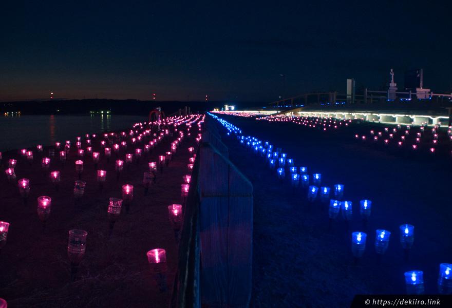 志賀町・富来のライトアップ「ときめき桜貝廊」