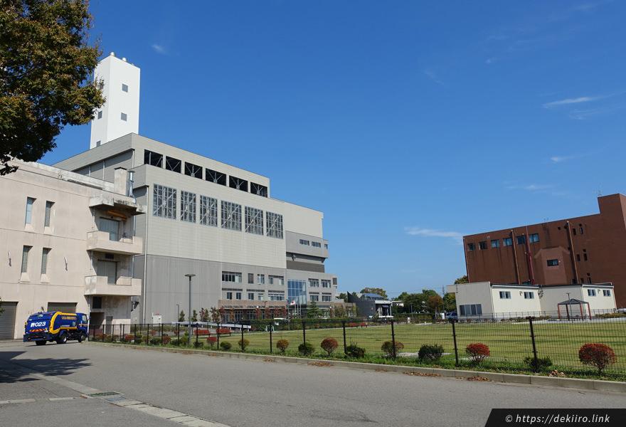 金沢市東力 西部環境エネルギーセンターと米丸交流広場