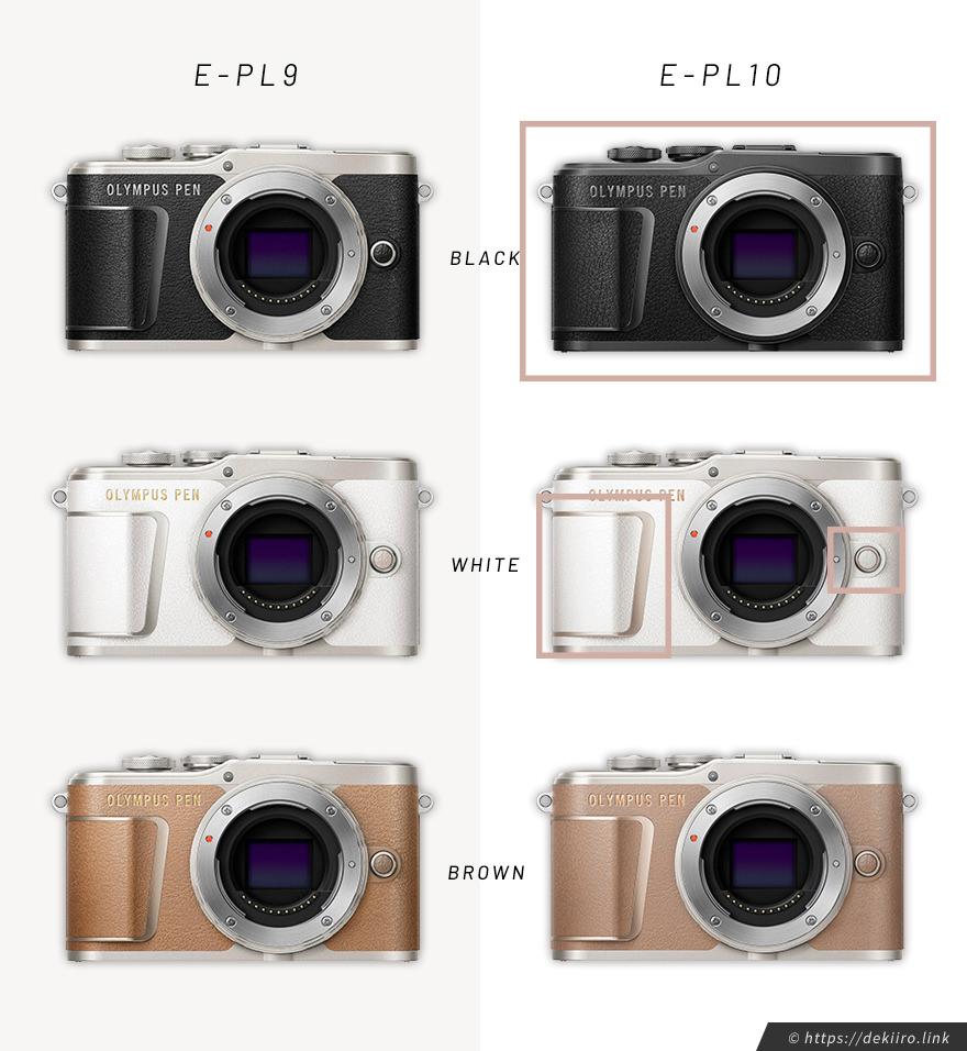 E-PL10とE-PL9のボディーカラーの違い
