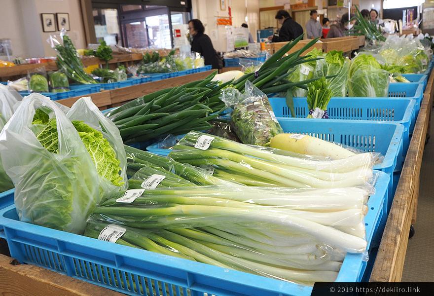 志賀町の直売所旬菜館の野菜