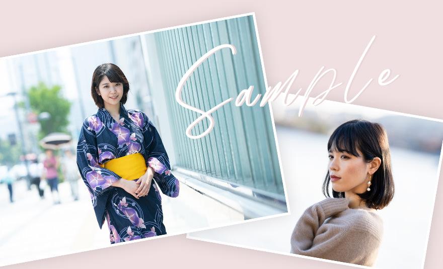 日本人女性のサンプル写真