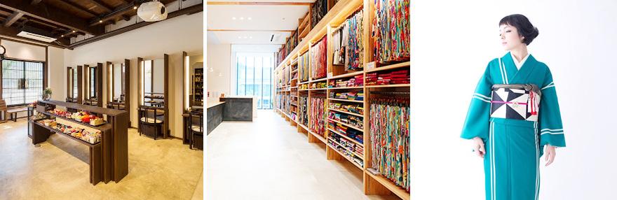 着物の品揃え・店内の雰囲気