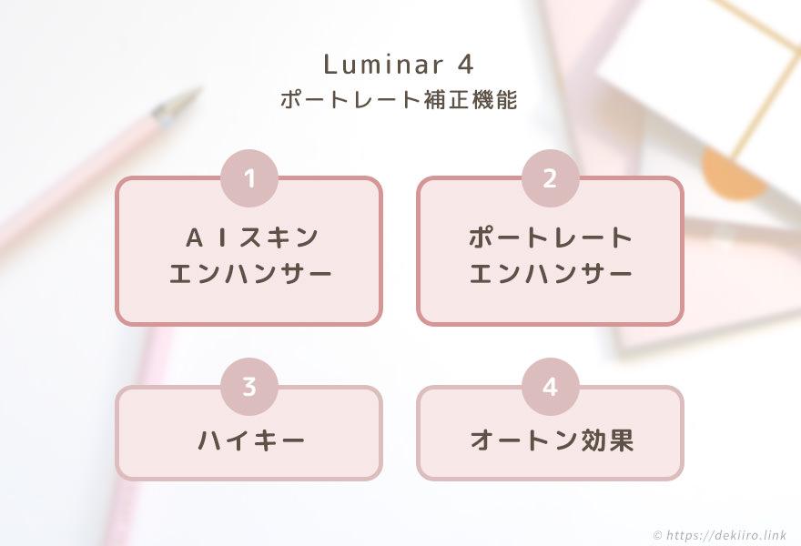 Luminar4(ルミナー) の4つのポートレート補正機能