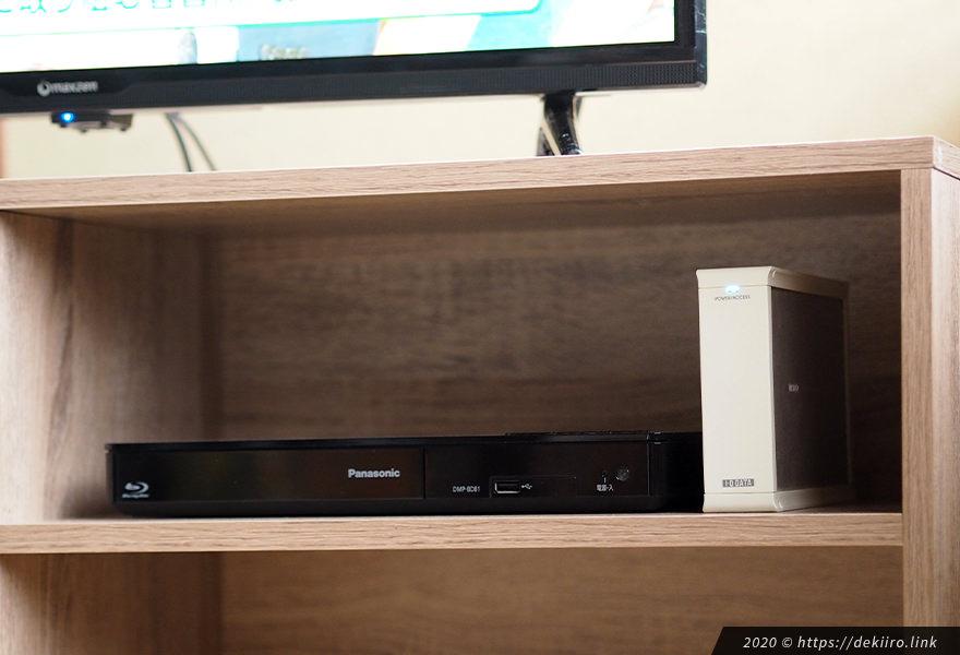 ブルーレイプレイヤー、HDD設置